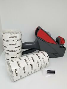 Price Label Gun Meto 5s 26 1 Line Box White Labels Ink Roller Value Pack