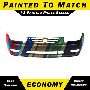 New Painted To Match Front Bumper Cover Replacement For 2001 2002 Toyota Corolla