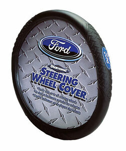 Ford Oval Logo Steering Wheel Cover Designed For 14 5 To 15 5 Steering Wheels