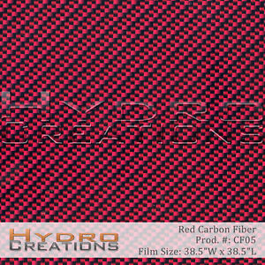 Hydrographic Film Hydro Dipping Water Transfer Red Carbon Fiber 38 5 X 38 5