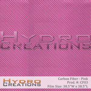 Hydrographic Film Hydro Dipping Water Transfer Pink Carbon Fiber 38 5 X 38 5