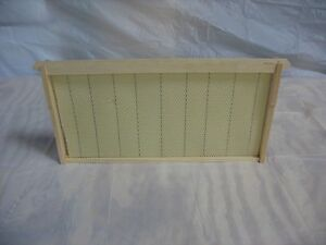 10 Assembled Bee Hive Frame Crimped Wired Wax Foundation Deep Brood Box