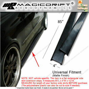 New 85 X 4 Universal Style Jdm Vip Side Skirt Flat Extension Bottom Valance