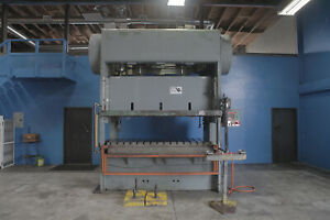 Verson Straight Side Double Crank Punch Press 150 Ton X 96 X 42 Metal Puncher