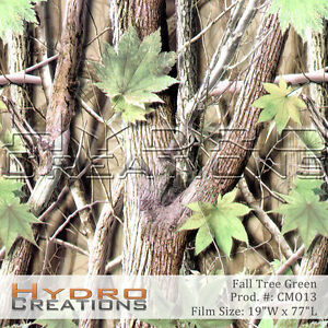 Hydrographic Film Hydro Dipping Water Transfer Fall Tree Camo Green 19 X 77