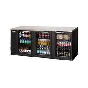 New Everest Ebb90g 24 Back Bar Refrigerated Cabinet 3 Glass Doors 89 25 Wide