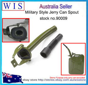 Military Green Jerry Can Pouring Spout Funnel Flexible Nozzle With 5pcs Pk Seals