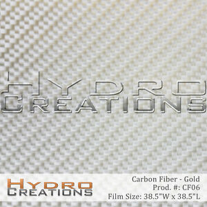 Hydrographic Film Hydro Dipping Water Transfer Gold Carbon Fiber 38 5 X 38 5