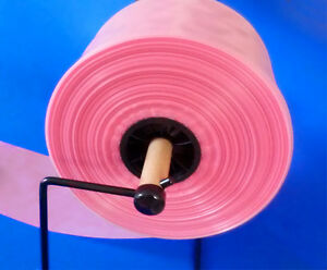 6 Pink 750 Antistatic 4mil Poly Tubing For Electronics Hard Drives Esd Pas