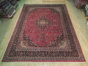 10 X 13 Hand Knotted Kashan Classic Persian Magnificent Area Rug