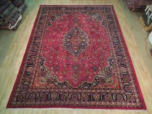 Burgundy Hand Woven Kashan Persian Weavers Splendid 9 X 13 Area Rug