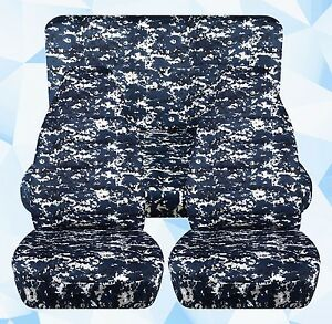New 97 02 Jeep Wrangler Tj Seat Covers Blue Gray Digital Camo Front