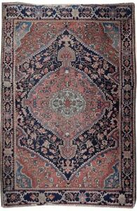 Vintage Handmade 3 X 5 Old Antique Persian Rug