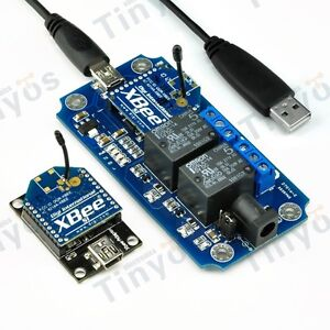 2 Channel Usb wireless 5v Relay Module Xbee S1 Remote Control Kit