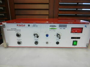 R Wolf 2083 Electro Surgical Generator Powers On498 item 710 A 15