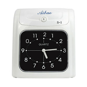 Calculating Time Recorder Punch Time Clock Accumulating Total Working Hours