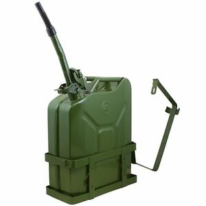 5 Gallon 20l Jerry Can Gas Diesel Fuel Steel Tank Green Holder Mount Nato Style