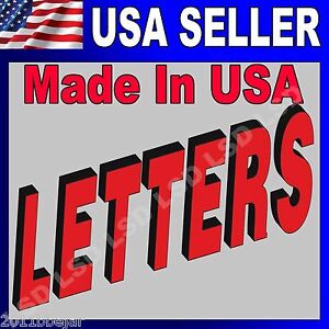 36 Led Frontlit Channel Letters Store Signs Super Quality Machine Made