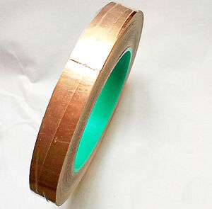 1x Roll Double Side Conductive Copper Foil Tape 5cm 50mm X 30m Emi Shield