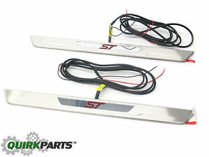 2012 2016 Ford Focus St Led Illuminated Front Door Sill Plates Oem Dm5z54132a08f