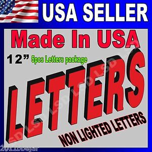 12 Non Lighted Custom Channel Letters Retail Business Sign 100 Machine Made