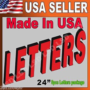 24 5pcs Package Led Frontlit Channel Letters Store Sign super Quality W driver