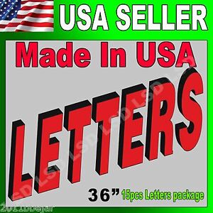 36 15pcs Package Led Frontlit Channel Letters Store Sign super Quality W driver
