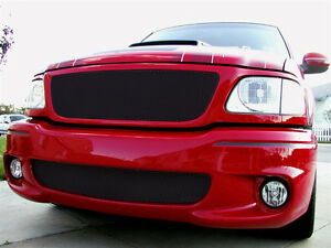 Grillcraft 1999 03 Ford Lightning Black Mx Series Mesh Grille Grill 2pc Set
