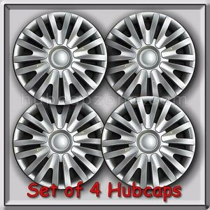 2010 2014 15 Vw Volkswagen Golf Replacement Hubcaps Set 4 Silver Wheel Covers