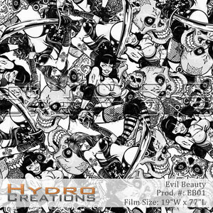 Hydrographic Film Hydro Dipping Water Transfer Evil Beauty 19 X 77