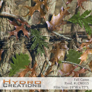 Hydrographic Film Hydro Dipping Water Transfer Fall Camo 19 X 77