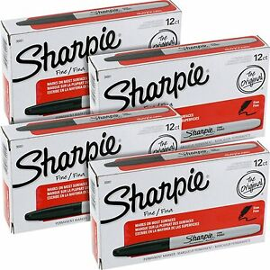 Sharpie Fine Point Permanent Markers 30001 48 Markers New