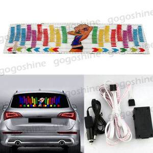 Car Sticker Music Rhythm Led Flash Light Sound Activated Equalizer Girl 90x25cm