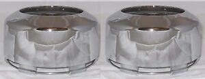2 Cap Deal Weld Ultra Motorsports 8 Lug Open End 4x4 Chrome Wheel Rim Center Cap