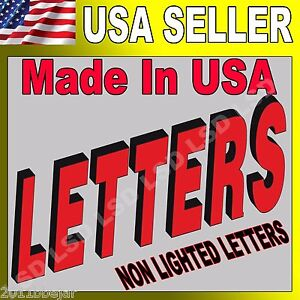 16 Non Lighted Custom Channel Letters Retail Business Sign 100 Machine Made