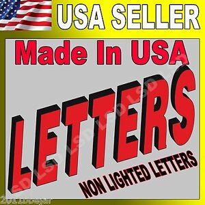 24 Non Lighted Custom Channel Letters Retail Business Sign 100 Machine Made