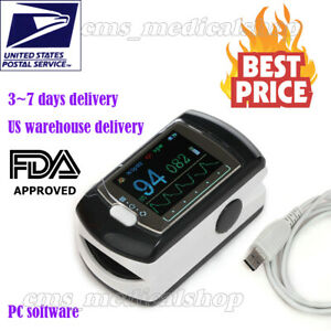 10 Pcs fda Ce Finger Pulse Oximeter Fingertip Oxygen Monitor Spo2 Pr usa Seller