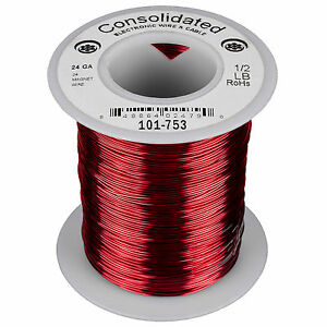 Consolidated 24 Awg Magnet Wire 1 2 Lb 404 Ft
