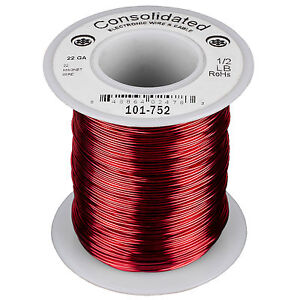Consolidated 22 Awg Magnet Wire 1 2 Lb 254 Ft