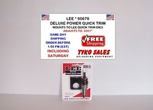 LEE 90670 * LEE PRECISION DELUXE POWER QUICK TRIM * ADJUSTS TO .0001