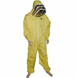 Pro s Choice Best Beekeeping Suit xl Size Yellow Color With Free Glovesthread r