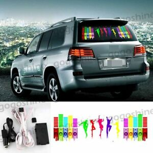Car Music Rhythm Flash Light Led Sticker Sound Activated Equalizer Mu25 90x25cm