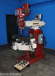 Lagun Ftv1 Vertical Metal Milling Machine 9 X 42 Table 2hp W Digital Read Out