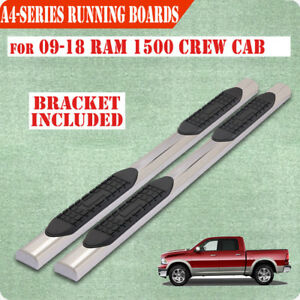 For 09 18 Dodge Ram 1500 Crew Cab 4 Nerf Bar Side Step Running Boards Chrome A
