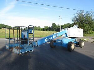 1999 Genie S 40 Manlift Dual Fuel Low Hours Great Tires 4wd