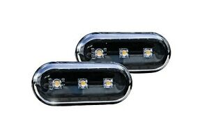 Vw Golf Jetta Mk4 4 Passat B5 B5 5 Black Led Side Marker Lights Turn Signals