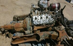 Ford 1950 Mercury Flatthead Original Engine transmission