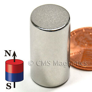 Cms Magnetics Super Strong N52 Neodymium Cylinder Magnet 1 2 x 1 100 pc