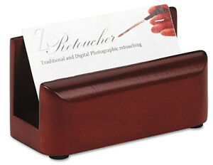 Wood Business Card Holder Desk Counter Rolodex Eldon Expression Organize Display