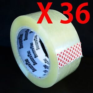 2 x110 Yard 330 Packaging Sealing Packing Box Cartonclear Duck Tape 36 Rolls